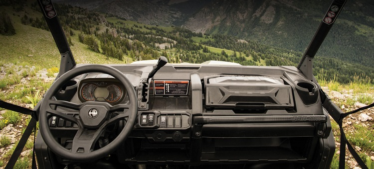 2016 Can Am Defender interior